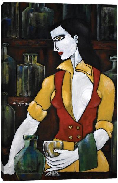 The bartender Canvas Art Print