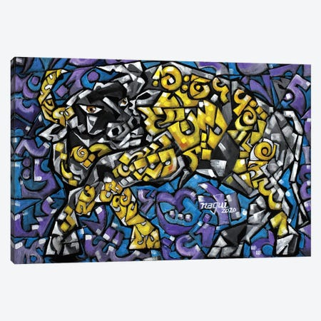 Bull 2020 Canvas Print #NAA125} by Nagui Achamallah Canvas Wall Art