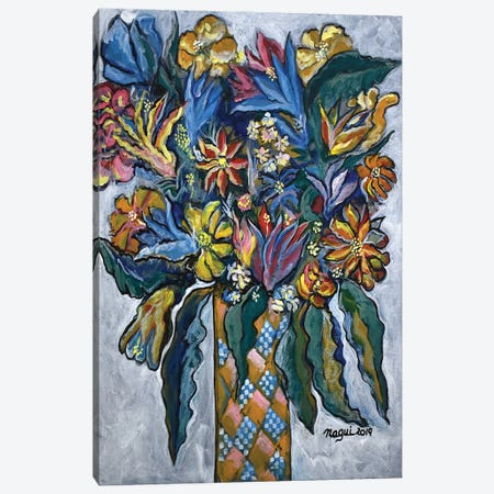 Flowers I Canvas Print #NAA126} by Nagui Achamallah Canvas Art