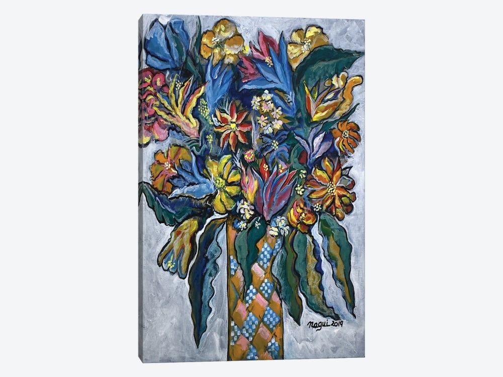 Flowers I by Nagui Achamallah 1-piece Canvas Art