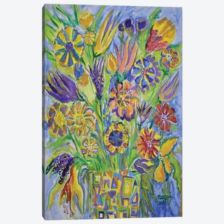 Flowers III Canvas Print #NAA127} by Nagui Achamallah Canvas Wall Art