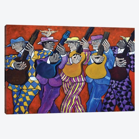 The Guitarists' March Canvas Print #NAA135} by Nagui Achamallah Canvas Print