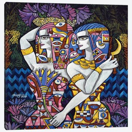 The Lotus Harvest Canvas Print #NAA136} by Nagui Achamallah Canvas Art Print