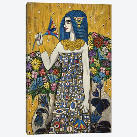 Isis With Flowers Canvas Print #NAA138} by Nagui Achamallah Canvas Artwork
