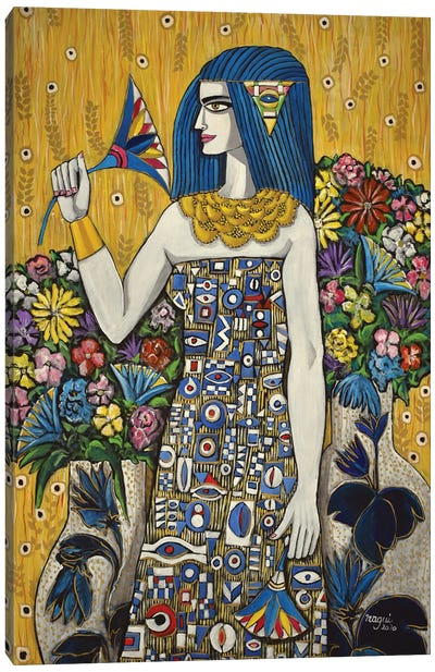 Isis With Flowers Canvas Art Print