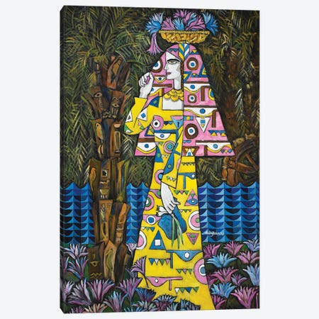 Egyptian Lotus Canvas Print #NAA139} by Nagui Achamallah Canvas Wall Art