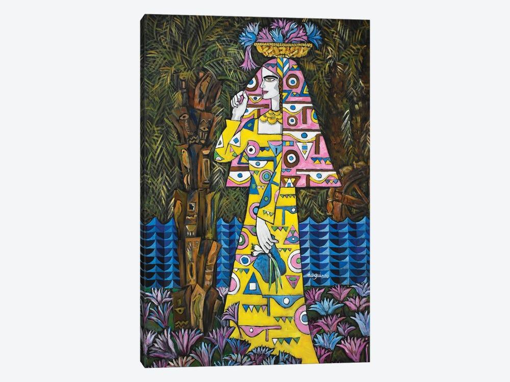Egyptian Lotus by Nagui Achamallah 1-piece Canvas Wall Art