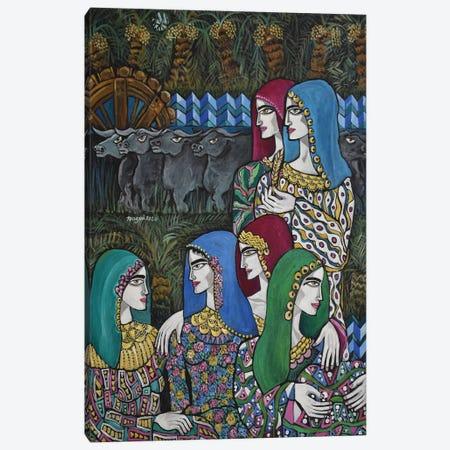 The Village Women Canvas Print #NAA140} by Nagui Achamallah Canvas Print