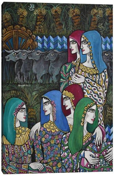 The Village Women Canvas Art Print