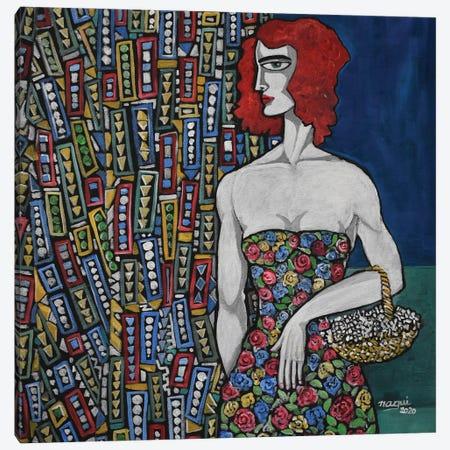 Flower Basket Canvas Print #NAA141} by Nagui Achamallah Canvas Art Print