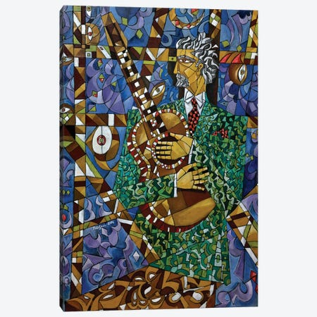 Guitarist Canvas Print #NAA14} by Nagui Achamallah Canvas Art
