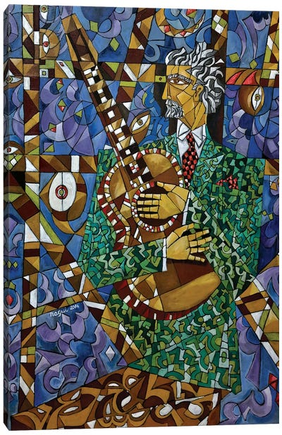 Guitarist Canvas Art Print