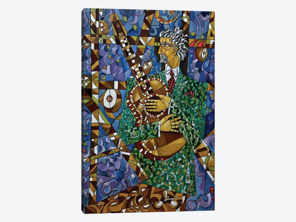 Guitarist by Nagui Achamallah 1-piece Canvas Art Print