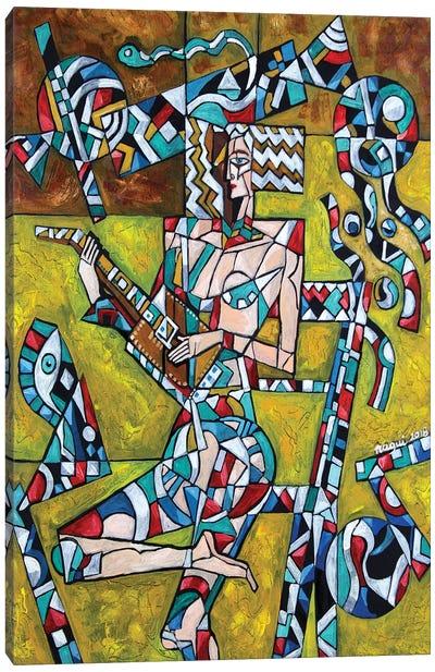 Lute Canvas Art Print