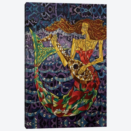 Mermaid Canvas Print #NAA20} by Nagui Achamallah Canvas Wall Art