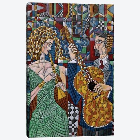 Musicians I Canvas Print #NAA21} by Nagui Achamallah Canvas Art