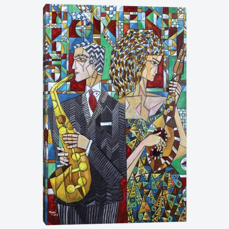 Musicians II Canvas Print #NAA22} by Nagui Achamallah Canvas Wall Art