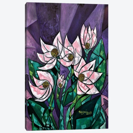 Nymphea Canvas Print #NAA23} by Nagui Achamallah Canvas Artwork