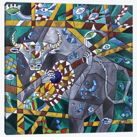 Singing Minotaur Canvas Print #NAA28} by Nagui Achamallah Canvas Wall Art