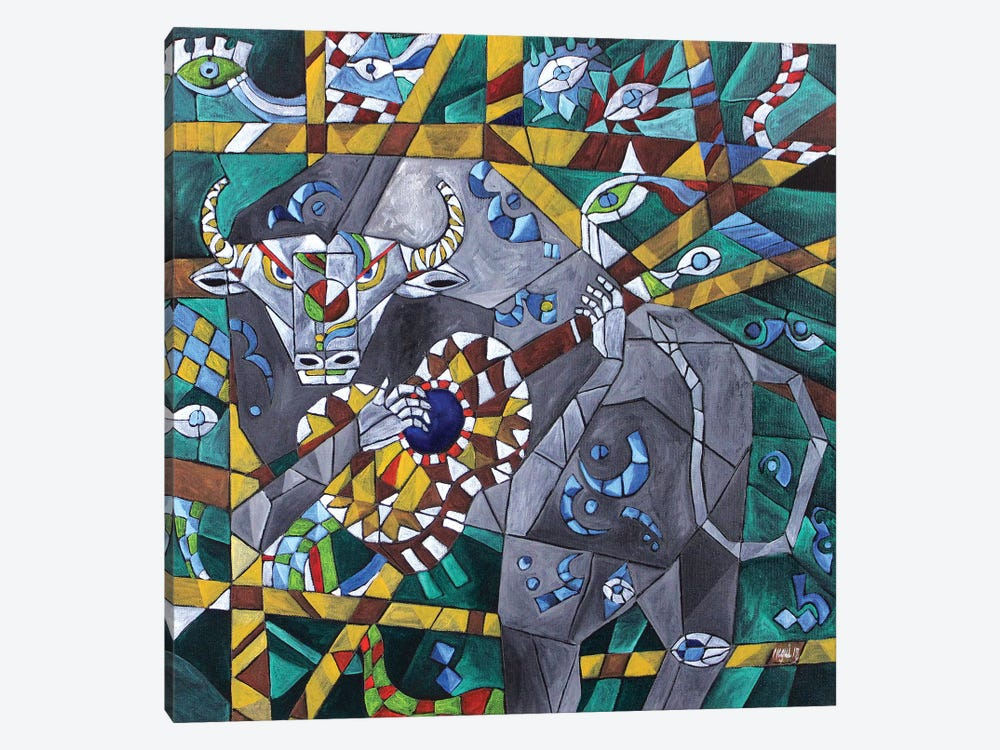 Singing Minotaur by Nagui Achamallah 1-piece Canvas Wall Art