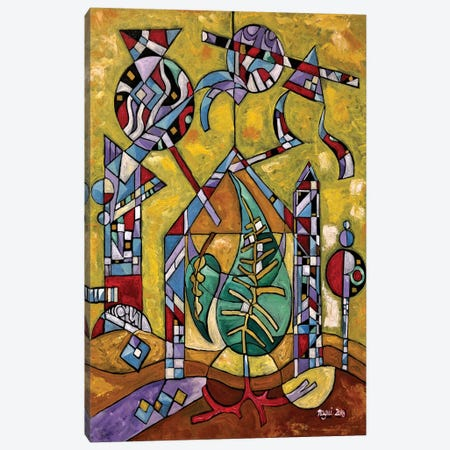 Spring Leaves Canvas Print #NAA29} by Nagui Achamallah Canvas Artwork