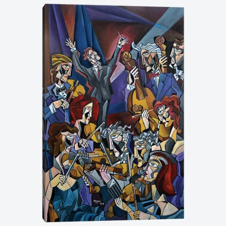 String Section 3-Piece Canvas #NAA30} by Nagui Achamallah Canvas Print