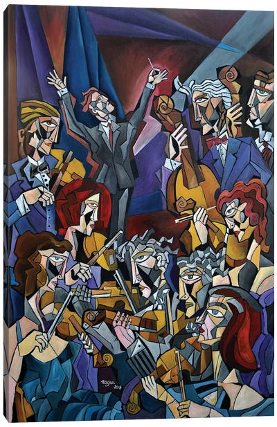 String Section Canvas Art Print