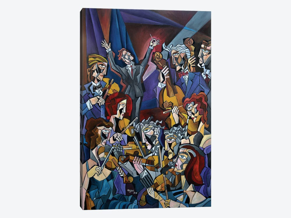String Section by Nagui Achamallah 1-piece Canvas Print