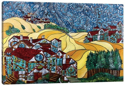 The Gold Hills Of California Canvas Art Print