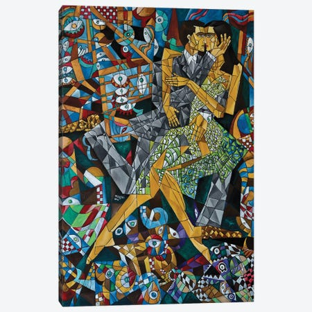 The Kiss Canvas Print #NAA38} by Nagui Achamallah Art Print