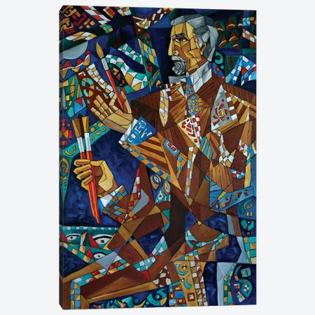 The Painter Canvas Print #NAA39} by Nagui Achamallah Art Print