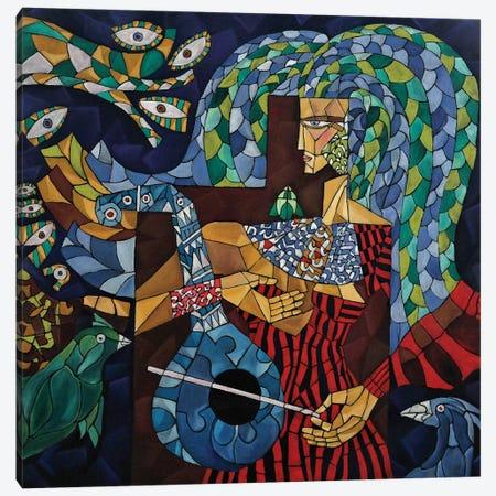 Blue Lute Canvas Print #NAA3} by Nagui Achamallah Canvas Wall Art