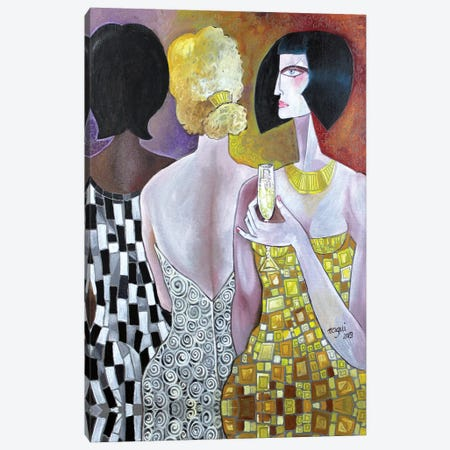 The Party Canvas Print #NAA40} by Nagui Achamallah Canvas Artwork