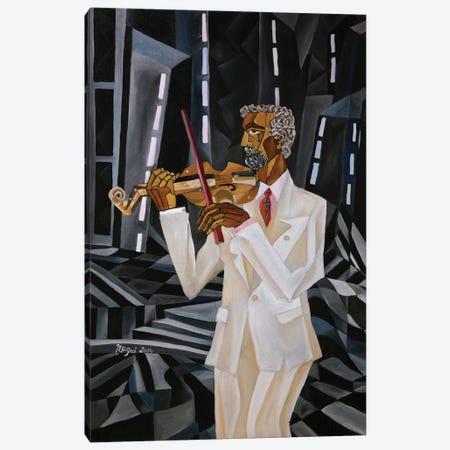 The Violinist Canvas Print #NAA44} by Nagui Achamallah Canvas Print