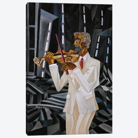 The Violinist Canvas Print #NAA44} by Nagui Achamallah Canvas Print