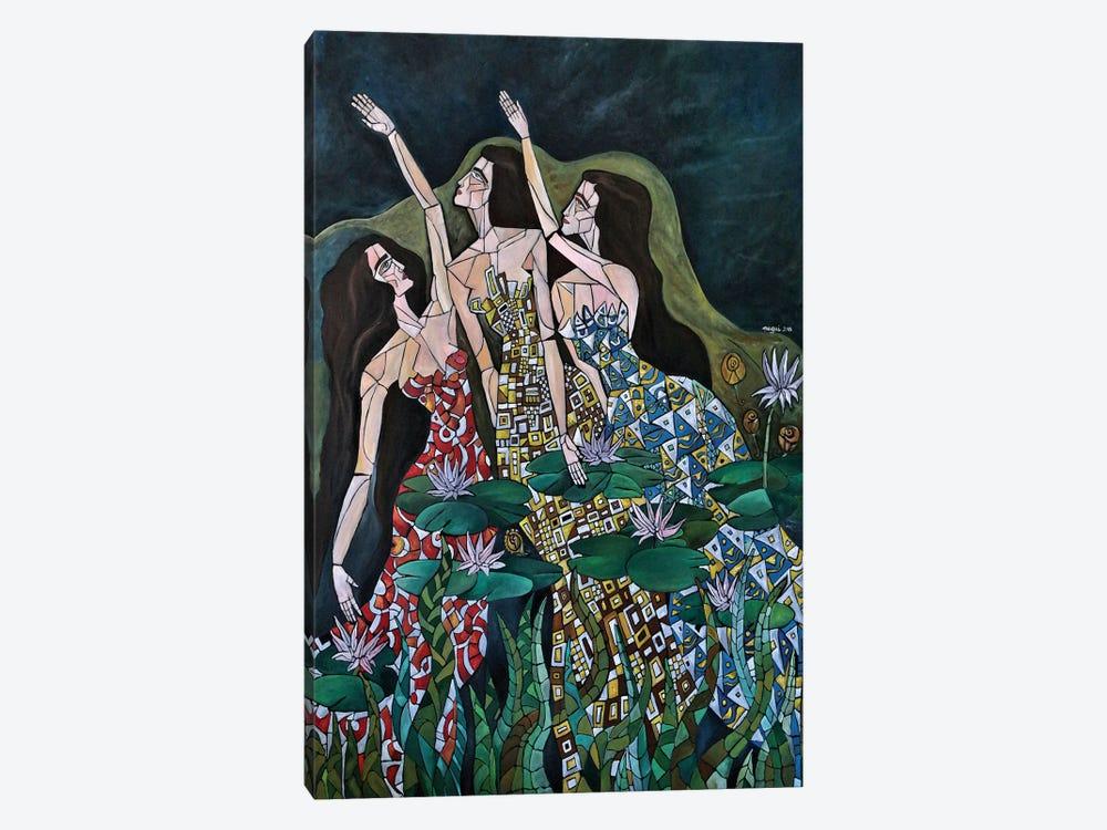 Three Nymphs by Nagui Achamallah 1-piece Canvas Art