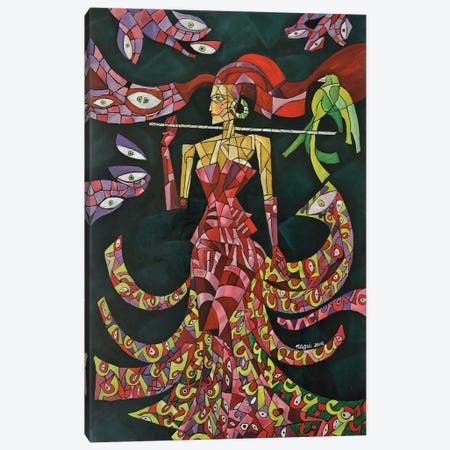 Witch Canvas Print #NAA48} by Nagui Achamallah Canvas Wall Art