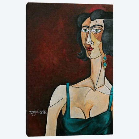 Woman With Emerald Earring Canvas Print #NAA51} by Nagui Achamallah Art Print