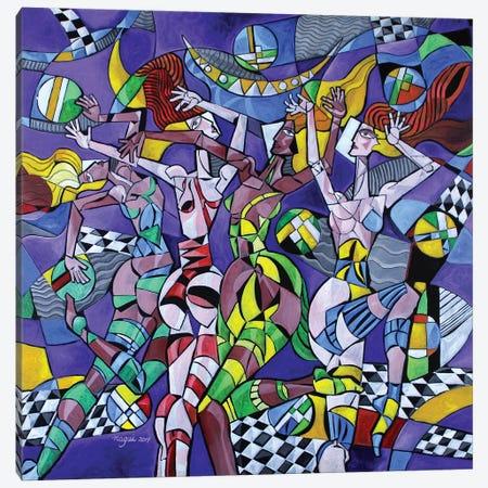 Moondance 3-Piece Canvas #NAA59} by Nagui Achamallah Art Print