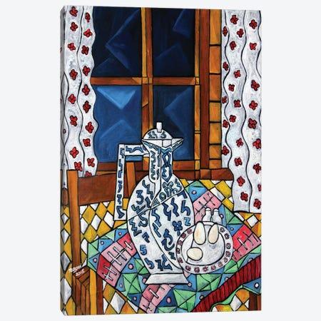 Breakfast Tablecloth Canvas Print #NAA5} by Nagui Achamallah Art Print