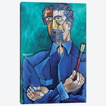 The Painter Canvas Print #NAA61} by Nagui Achamallah Canvas Art