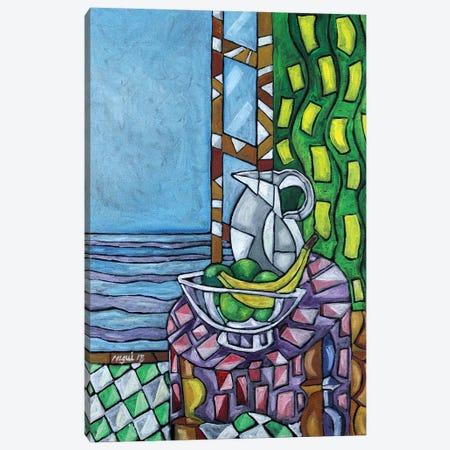 Window By The Beach Canvas Print #NAA62} by Nagui Achamallah Canvas Artwork