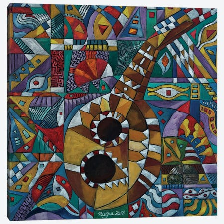 Deconstructing The Sound Of The Lute Canvas Print #NAA8} by Nagui Achamallah Canvas Art
