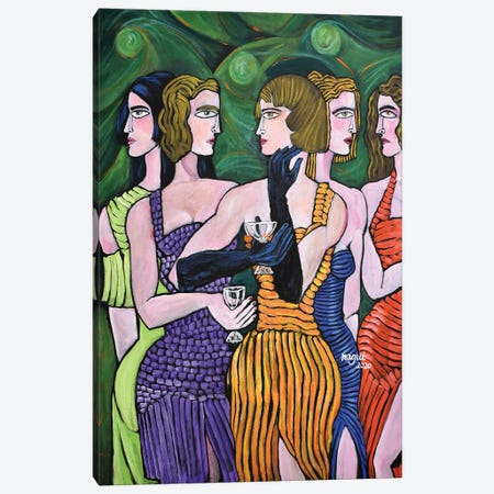 Girls' Night Out Canvas Print #NAA91} by Nagui Achamallah Canvas Print