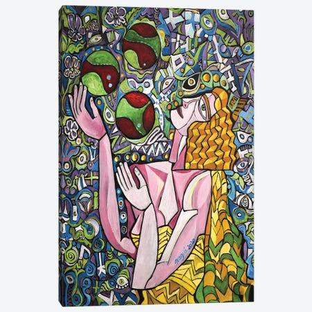 Juggler Canvas Print #NAA99} by Nagui Achamallah Canvas Art Print