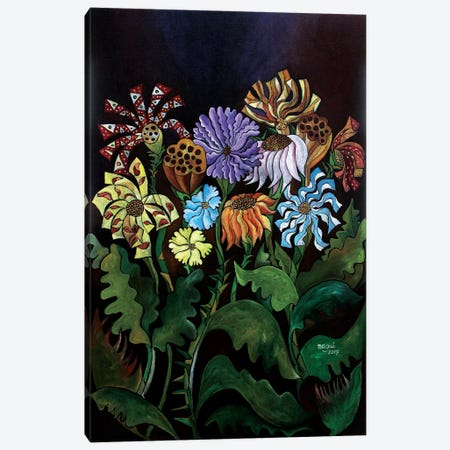 Flowers I Canvas Print #NAA9} by Nagui Achamallah Canvas Artwork