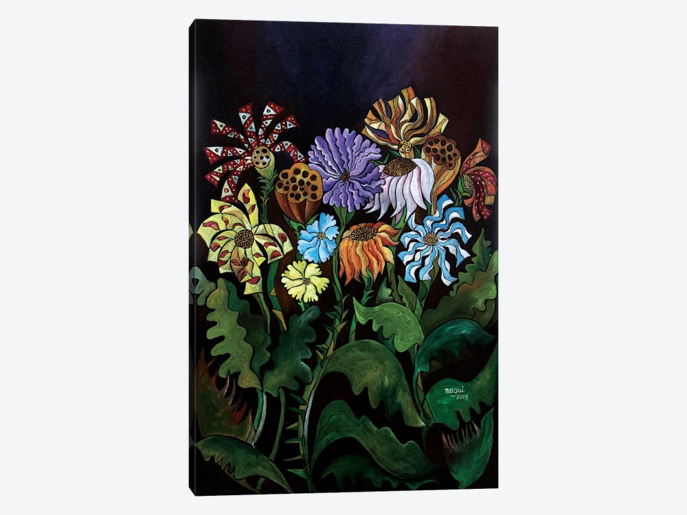 Flowers I by Nagui Achamallah 1-piece Canvas Print