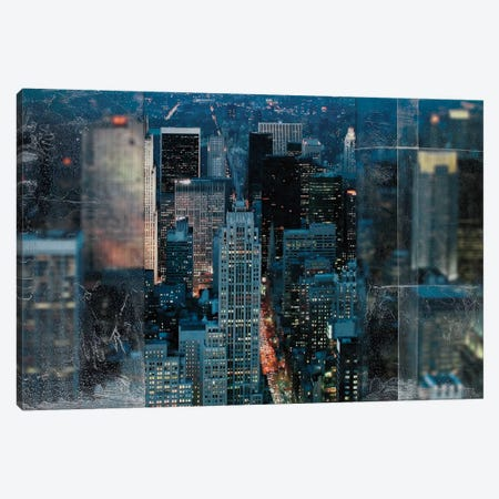Blue Manhattan Canvas Print #NAB1} by Nathan Bailey Art Print