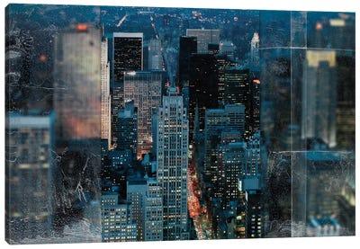 Blue Manhattan Canvas Art Print