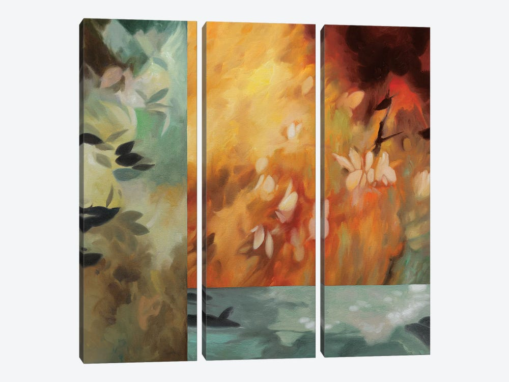 Inspire II by Natalie Carter 3-piece Canvas Artwork